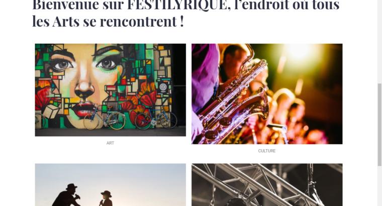VendreMonSite-Faible prix, thème art-culture-danse