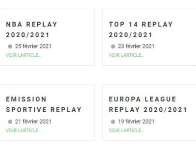 Site de replay du sport et live streaming